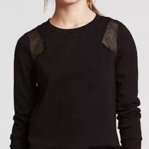 NWT Banana Republic mesh inset back zip sweater